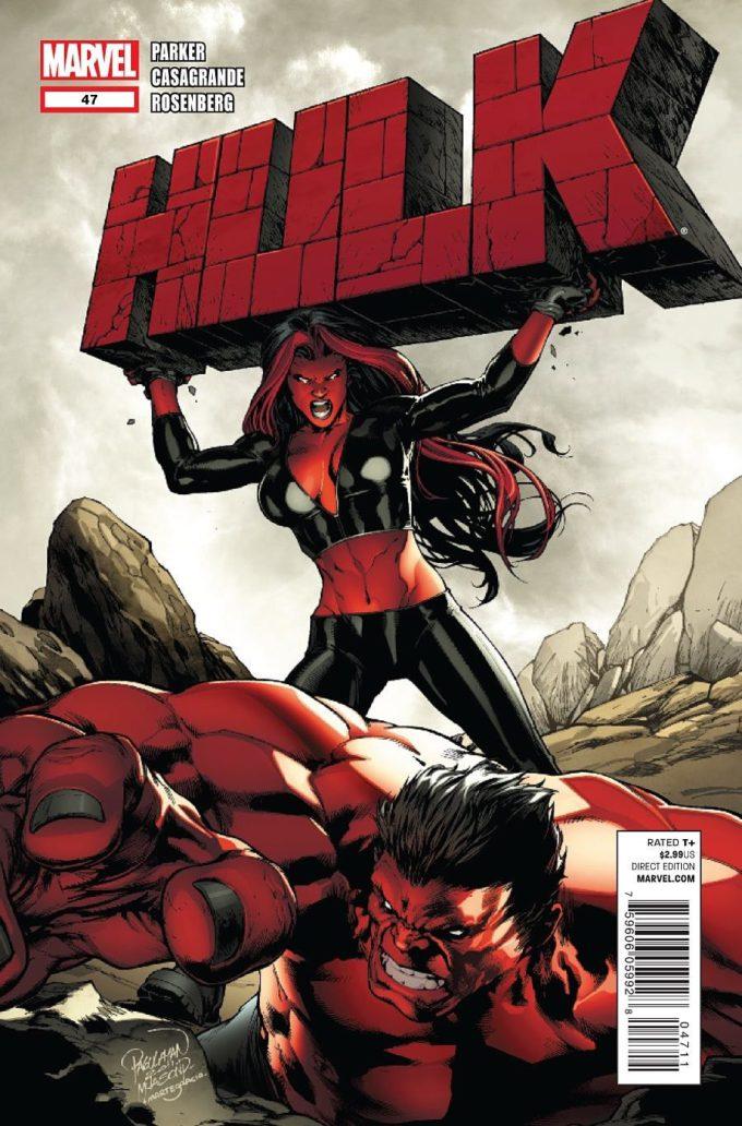 Hulk vol 2 #47 - okładka czarno-biały