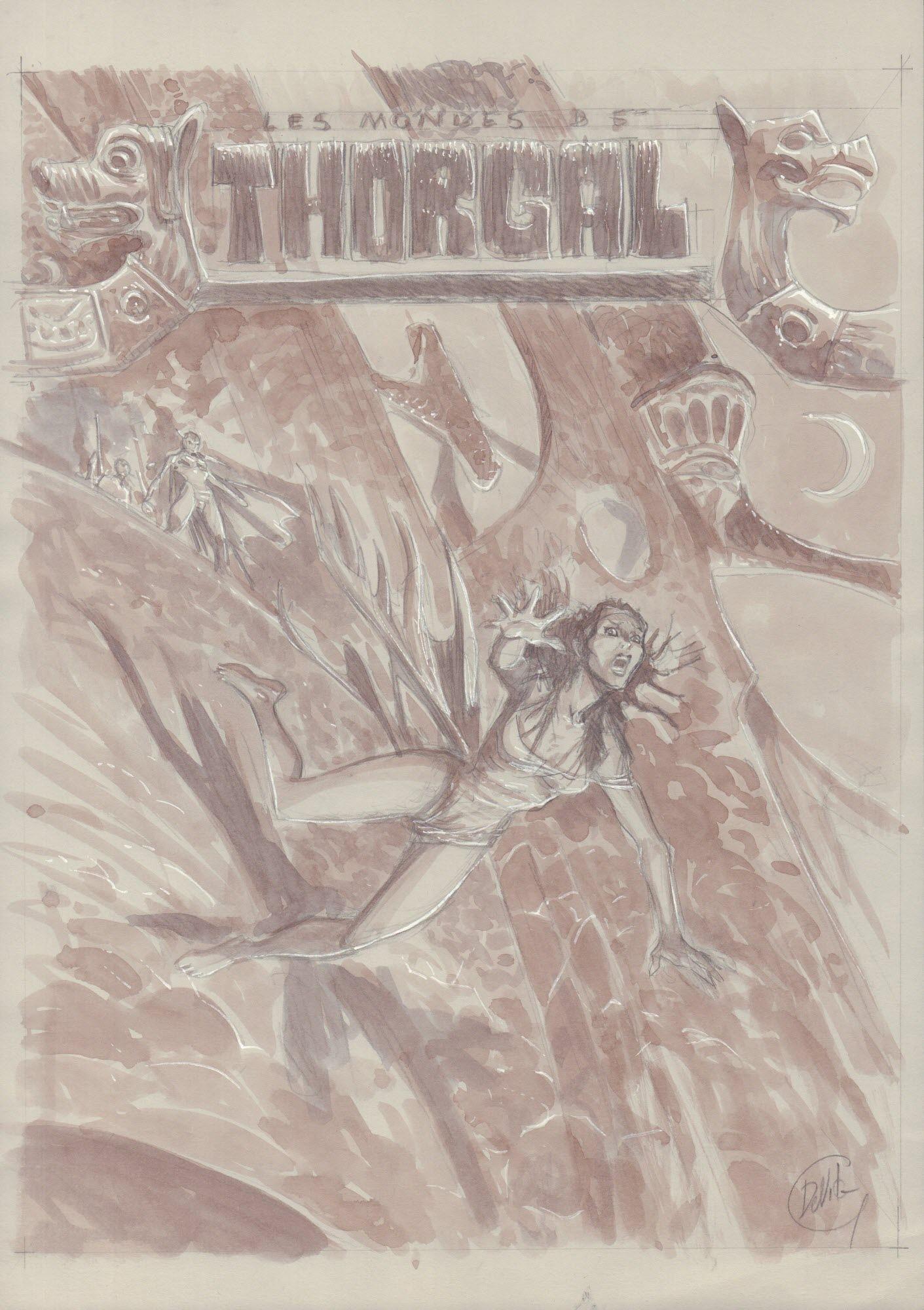 Thorgal. Kriss de Valnor #2, Wyrok Walkirii - szkic okładki