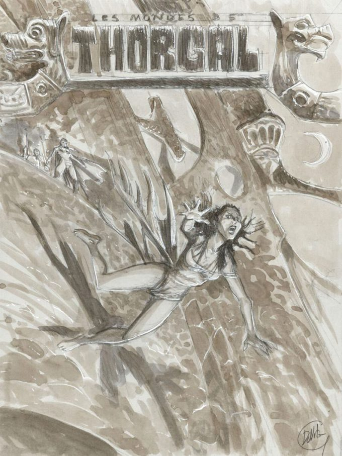 Wyrok Walkirii - szkic okładki