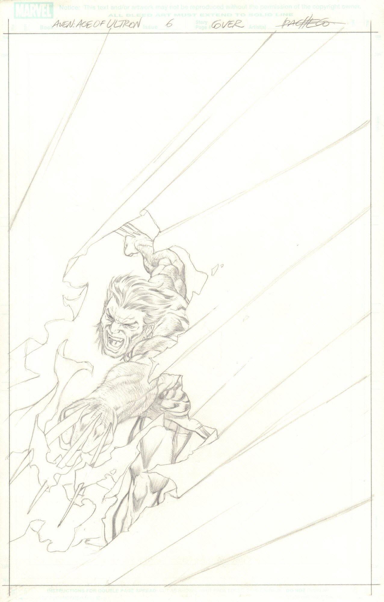 The Avengers: Age of Ultron #6 - okładka (ołówek)