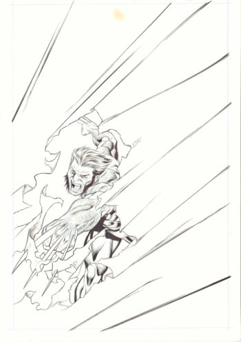 The Avengers: Age of Ultron #6 - okładka (tusz)