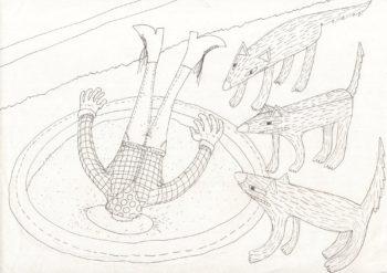 Kadr z komiksu (rysunek i kolor)