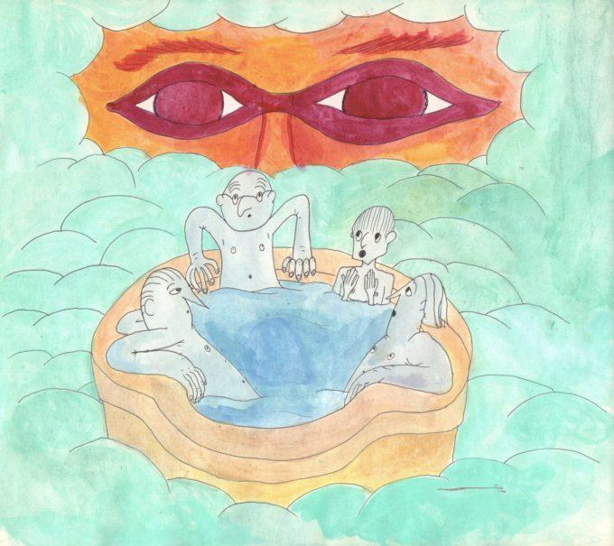 Rysunek do wyobrażonej animacji