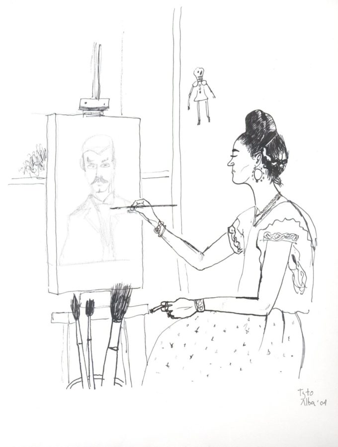 La Casa Azul. Frida Kahlo czarno-biały
