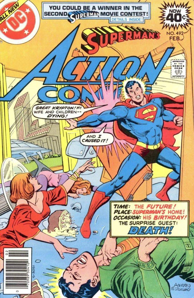 Action Comics #492 / 7 czarno-biały