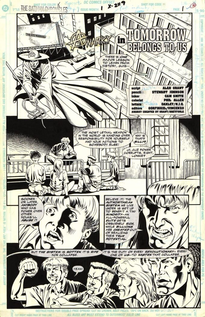 The Batman Chronicles: Anarky in Tommorow Belongs to Us #1 / 1