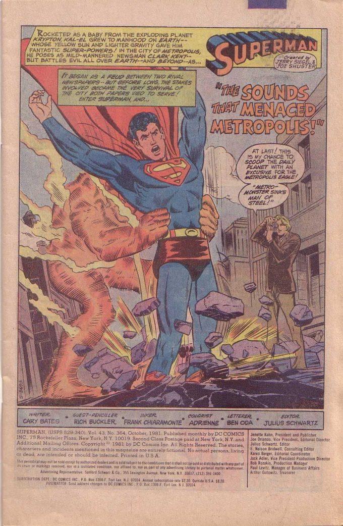 Superman #364 / 9 czarno-biały