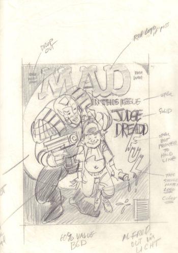 MAD #338 - szkic okładki
