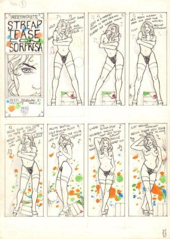 Striptease (komplet 4 plansz)