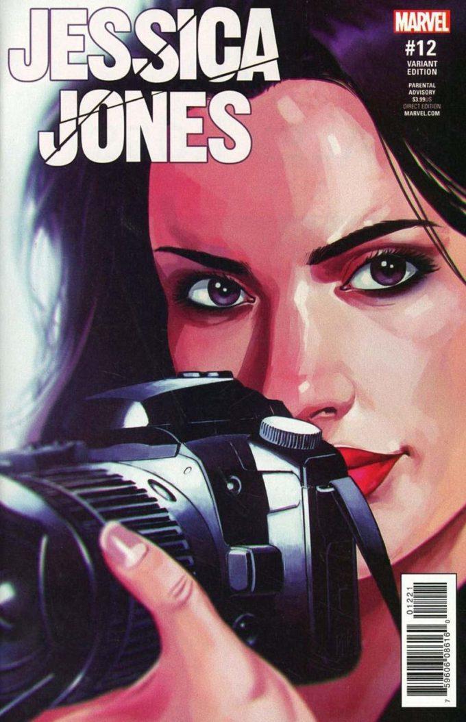Jessica Jones #12 - okładka (wariant) czarno-biały
