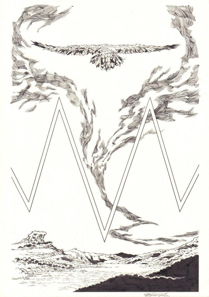 Biały Orzeł: Pierwszy lot - wydanie zbiorcze - okładka (komplet: przód i tył) czarno-biały