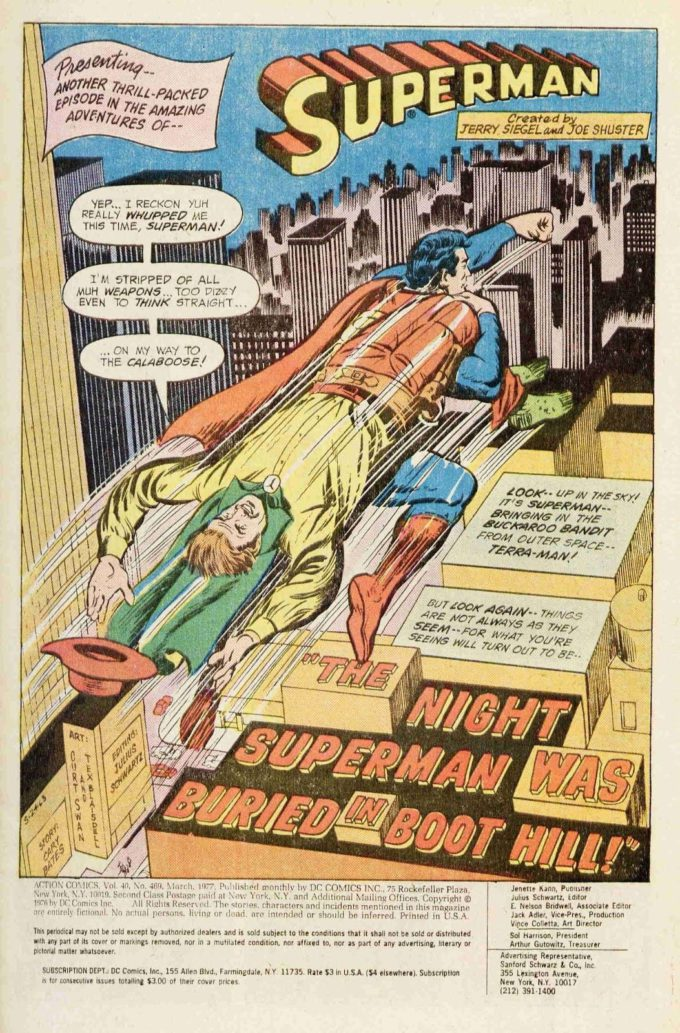 Action Comics #469 / 1 czarno-biały