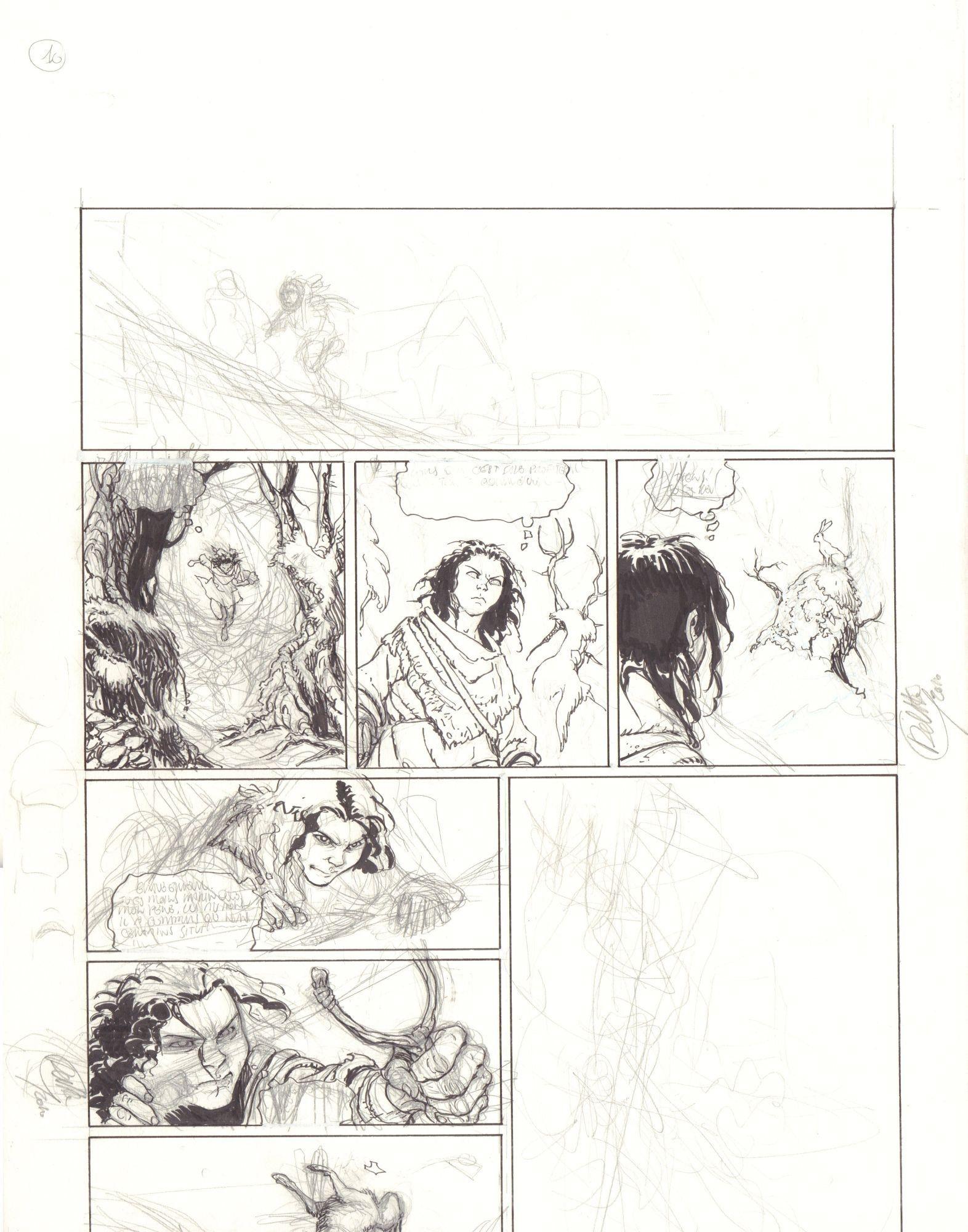 Thorgal. Kriss de Valnor #1, Nie zapominam o niczym!, s. 13 - pierwotny szkic planszy