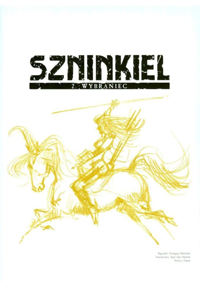 Szninkiel - studium postaci / strona tytułowa t. 1-2 Egmont