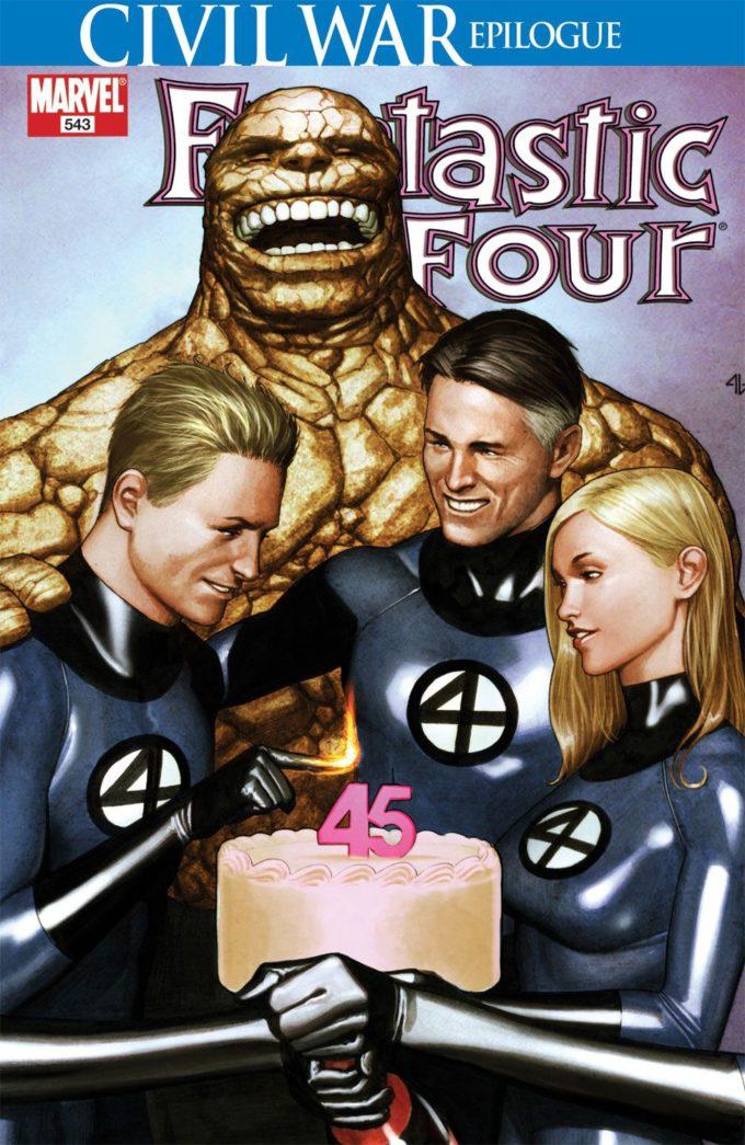 Fantastic Four Vol 1 #543 / 30 czarno-biały
