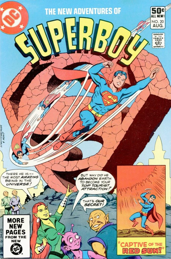 The New Adventures of Superboy #20 / 18 czarno-biały