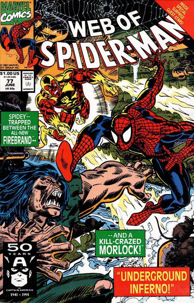 Web of Spider-Man #77 / 3 czarno-biały