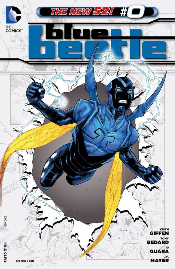Blue Beetle #0 / 1 czarno-biały