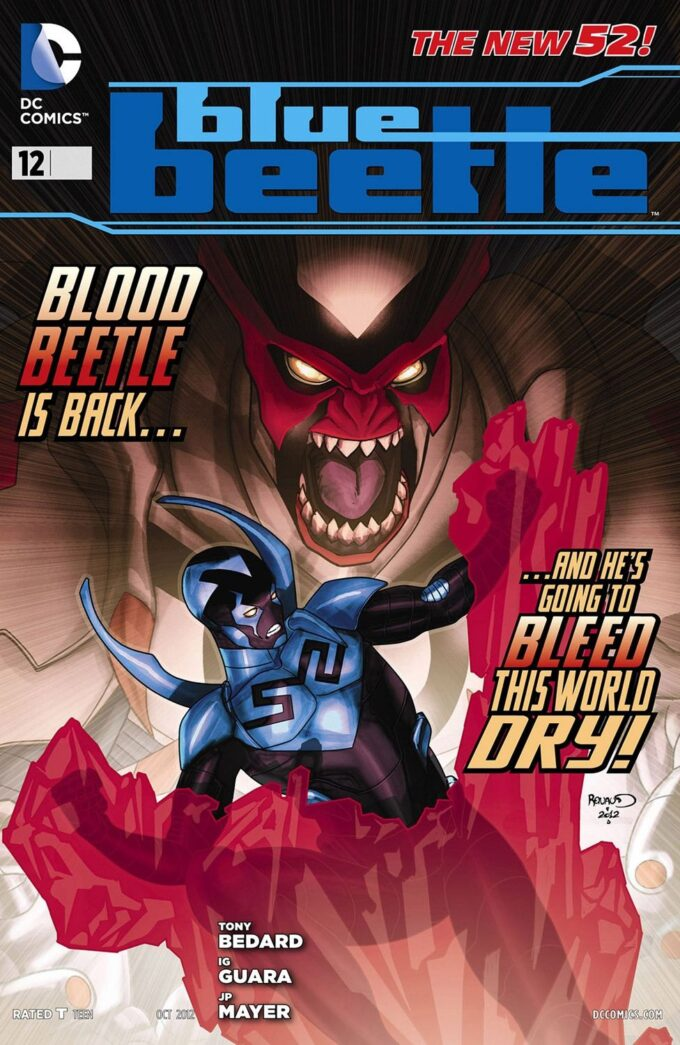 Blue Beetle #12 / 12 czarno-biały