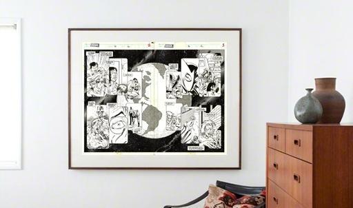 zakupy oryginalnych plansz komiksowych